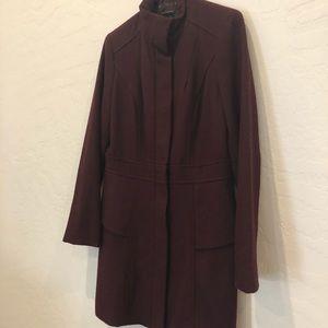 Mossimo Wool Blend Peplum Winter Coat